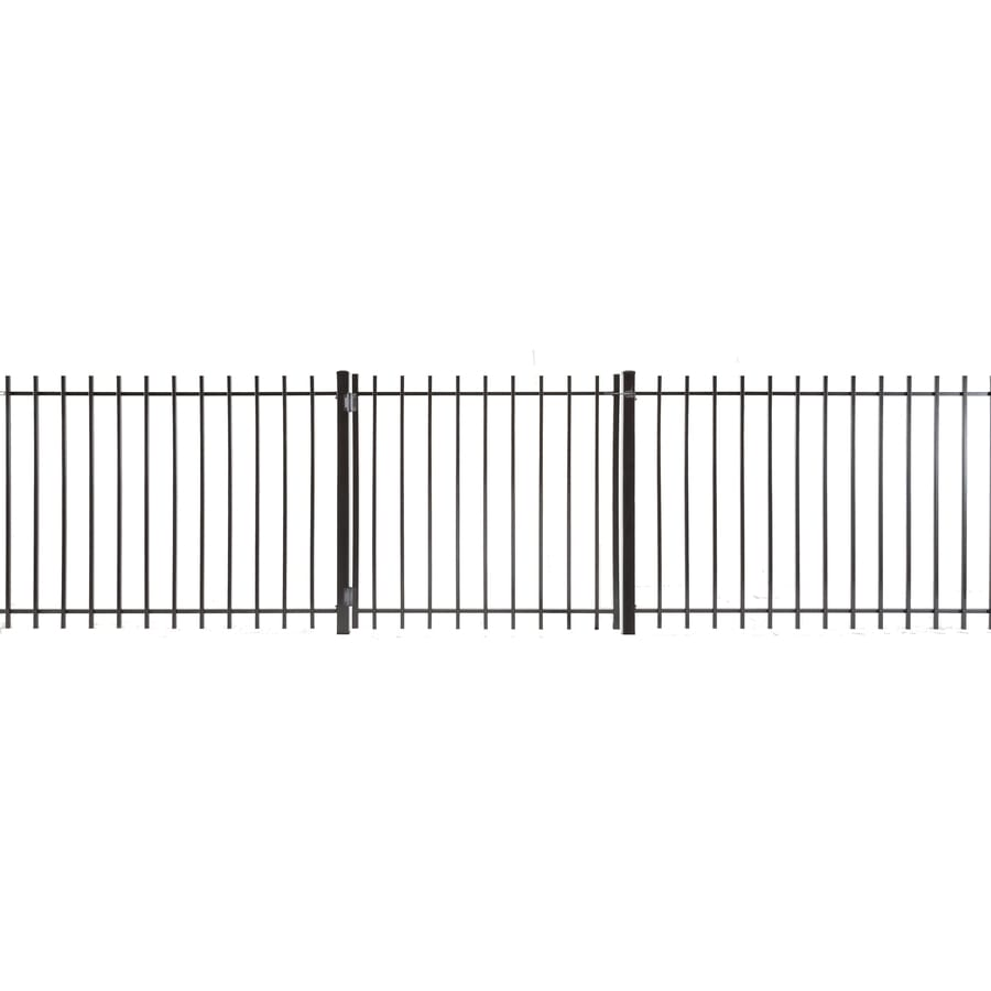 (Common: 3-ft x 3.5-ft; Actual: 2.83-ft x 3.16-ft) Kent Powder Coated Steel Decorative Fence Gate