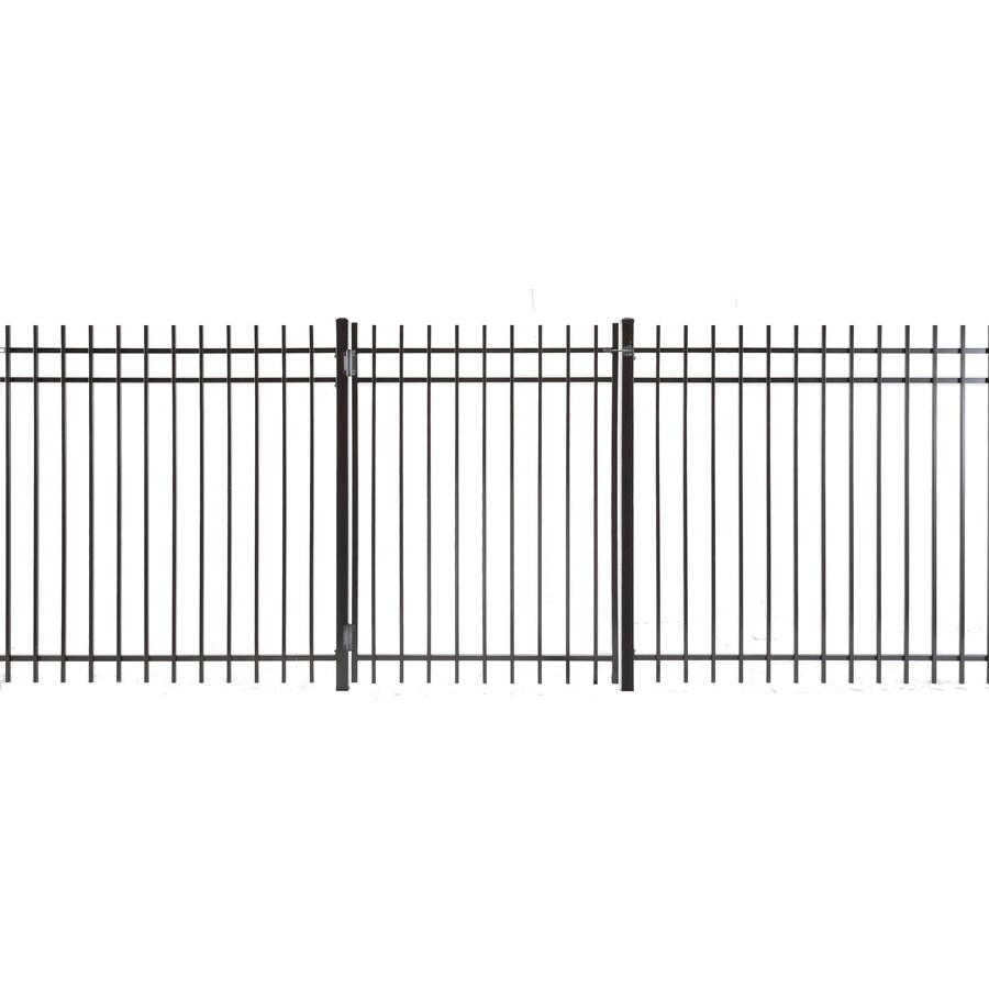 (Common: 5-ft x 3.5-ft; Actual: 4.83-ft x 3.16-ft) Kent Powder Coated Steel Decorative Fence Gate