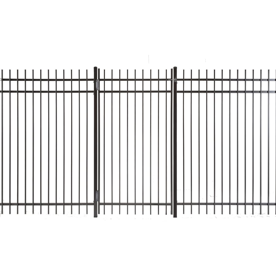 (Common: 6-ft x 3-ft; Actual: 5.83-ft x 2.66-ft) Kent Powder Coated Steel Decorative Fence Gate