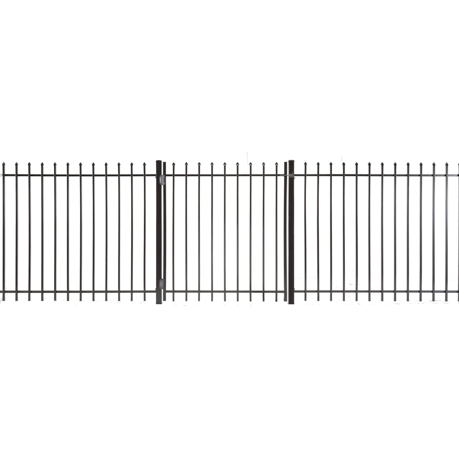 Lafayette Powder Coated Steel Decorative Fence Gate (Common: 4-ft x 3.5-ft; Actual: 3.83-ft x 3.16-ft)