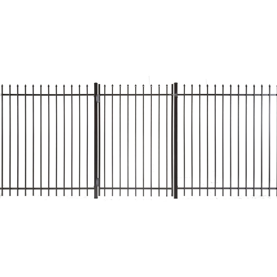 (Common: 5-ft x 3.5-ft; Actual: 4.83-ft x 3.16-ft) Lafayette Powder Coated Steel Decorative Fence Gate