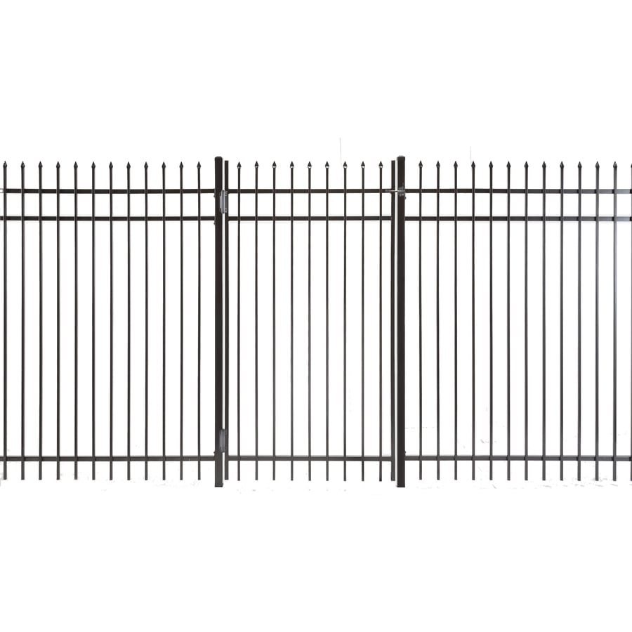 (Common: 6-ft x 3.5-ft; Actual: 5.83-ft x 3.16-ft) Lafayette Powder Coated Steel Decorative Fence Gate
