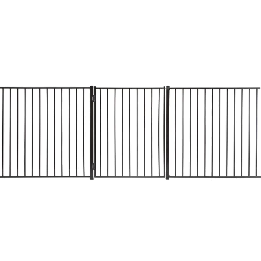 Monroe Powder Coated Steel Decorative Fence Gate (Common: 5-ft x 3.5-ft; Actual: 4.83-ft x 3.16-ft)