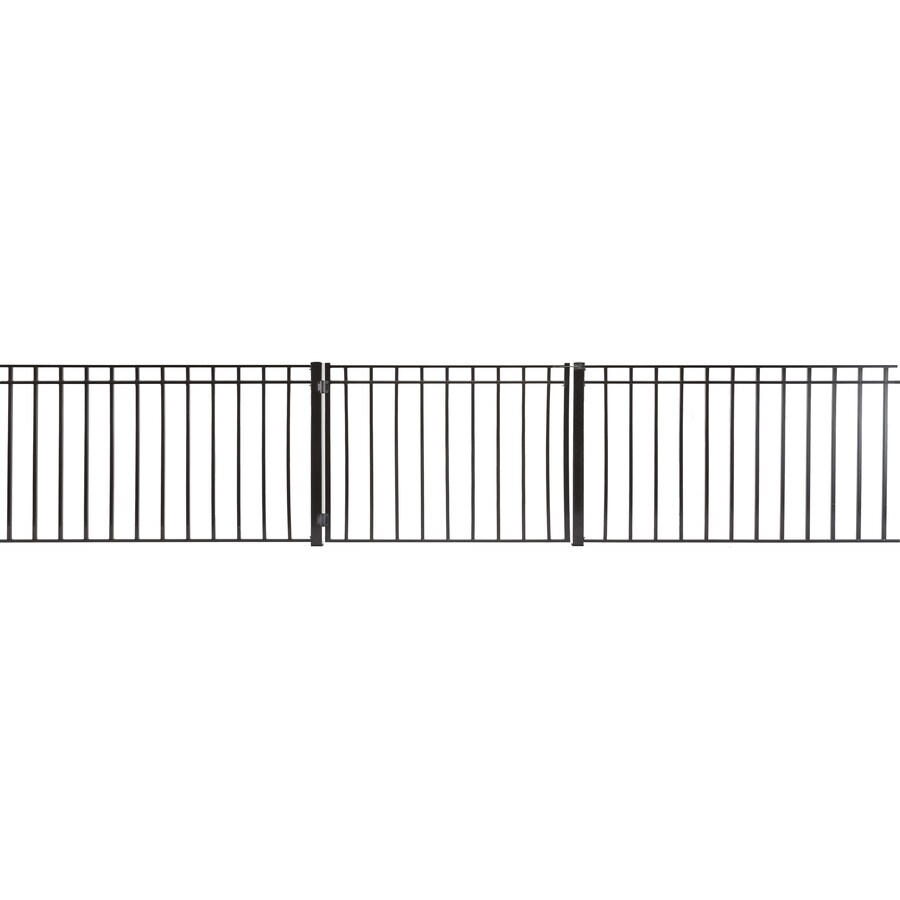 (Common: 3-ft x 4-ft; Actual: 2.66-ft x 3.66-ft) Monroe Powder Coated Steel Decorative Fence Gate
