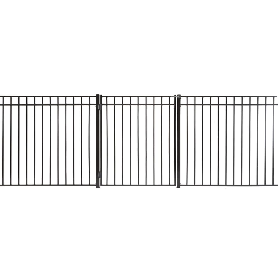 (Common: 4-ft x 3-ft; Actual: 3.66-ft x 2.66-ft) Monroe Powder Coated Steel Decorative Fence Gate