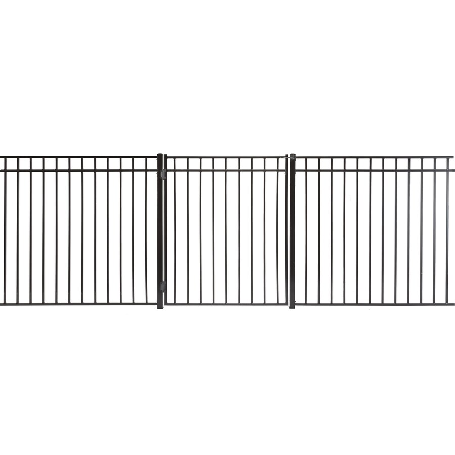 (Common: 5-ft x 3.5-ft; Actual: 4.83-ft x 3.16-ft) Monroe Powder Coated Steel Decorative Fence Gate