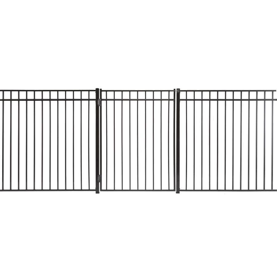 (Common: 5-ft x 4-ft; Actual: 4.83-ft x 3.66-ft) Monroe Powder Coated Steel Decorative Fence Gate