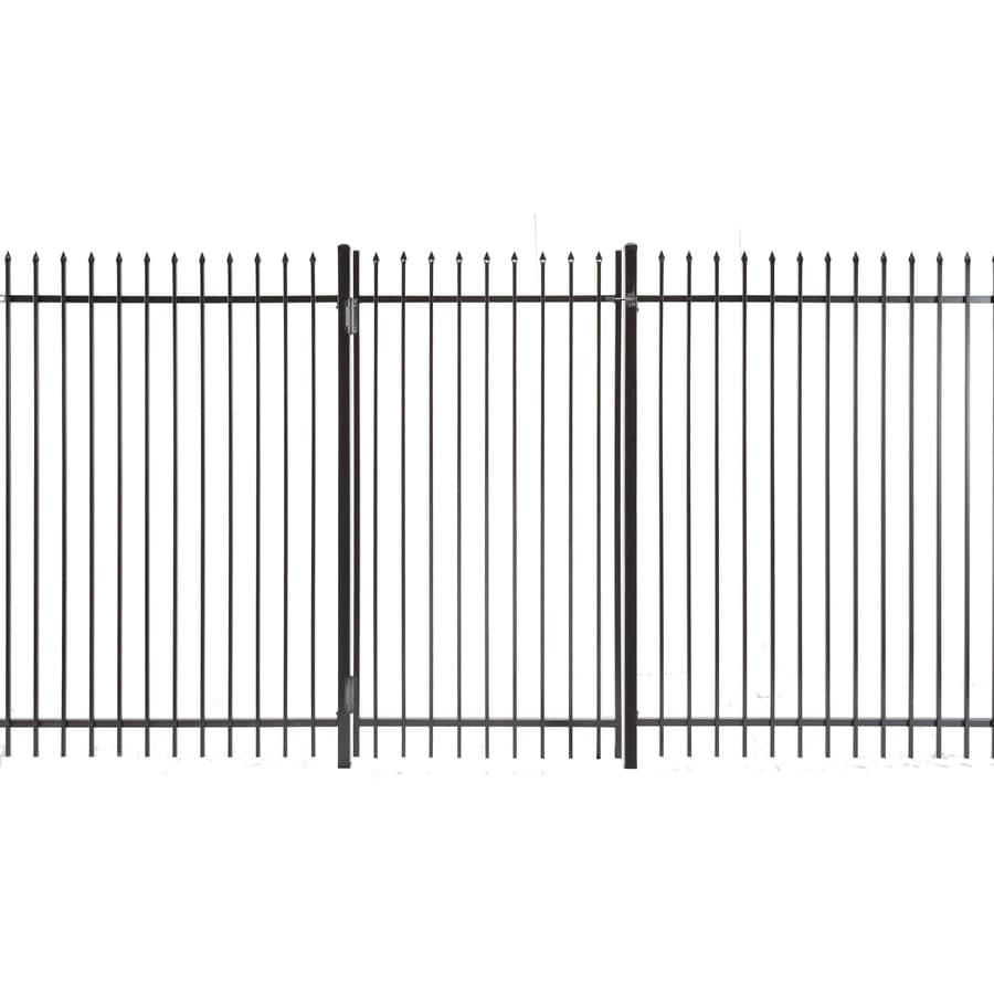 (Common: 6-ft x 3-ft; Actual: 5.83-ft x 2.66-ft) Lafayette Powder Coated Steel Decorative Fence Gate