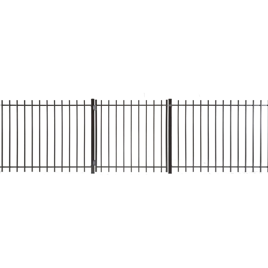 (Common: 4-ft x 4-ft; Actual: 3.83-ft x 3.66-ft) Kent Powder Coated Steel Decorative Fence Gate