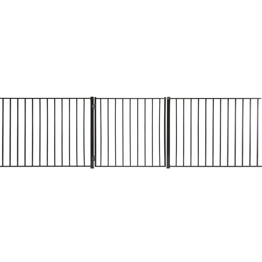 (Common: 3-ft x 3-ft; Actual: 2.66-ft x 2.66-ft) Monroe Powder Coated Steel Decorative Fence Gate