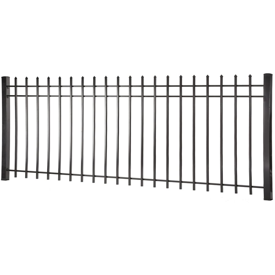 (Common: 4-ft x 8-ft; Actual: 3.95-ft x 7.97-ft) Lafayette Black Steel Decorative Fence Panel