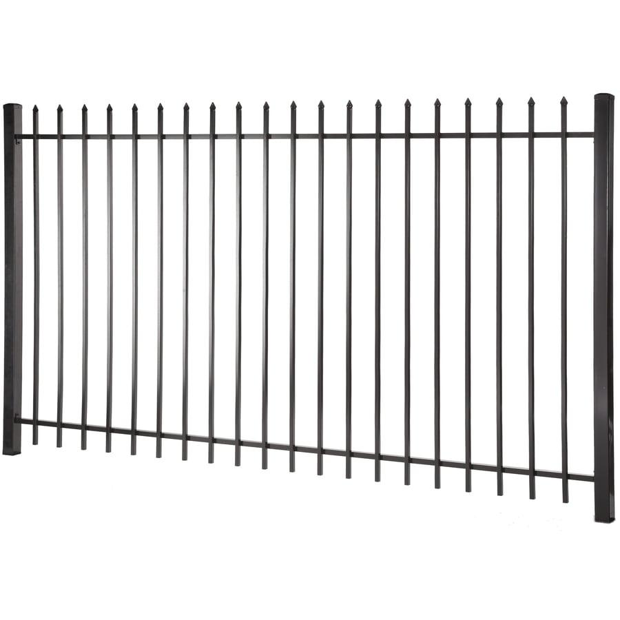 (Common: 5-ft x 8-ft; Actual: 4.96-ft x 7.97-ft) Lafayette Black Steel Decorative Fence Panel