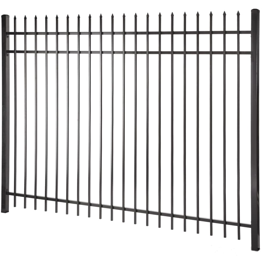 (Actual: 5.97-ft x 7.97-ft) Lafayette Black Steel Decorative Fence Panel