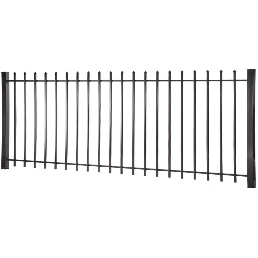 (Actual: 3.95-ft x 7.97-ft) Lafayette Black Steel Decorative Fence Panel