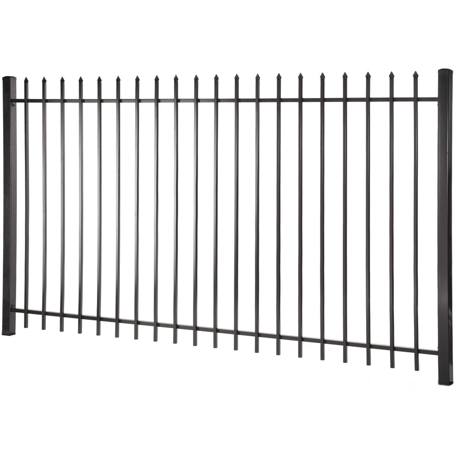 Lafayette Black Steel Decorative Fence Panel (Common: 5-ft x 8-ft; Actual: 4.96-ft x 7.97-ft)