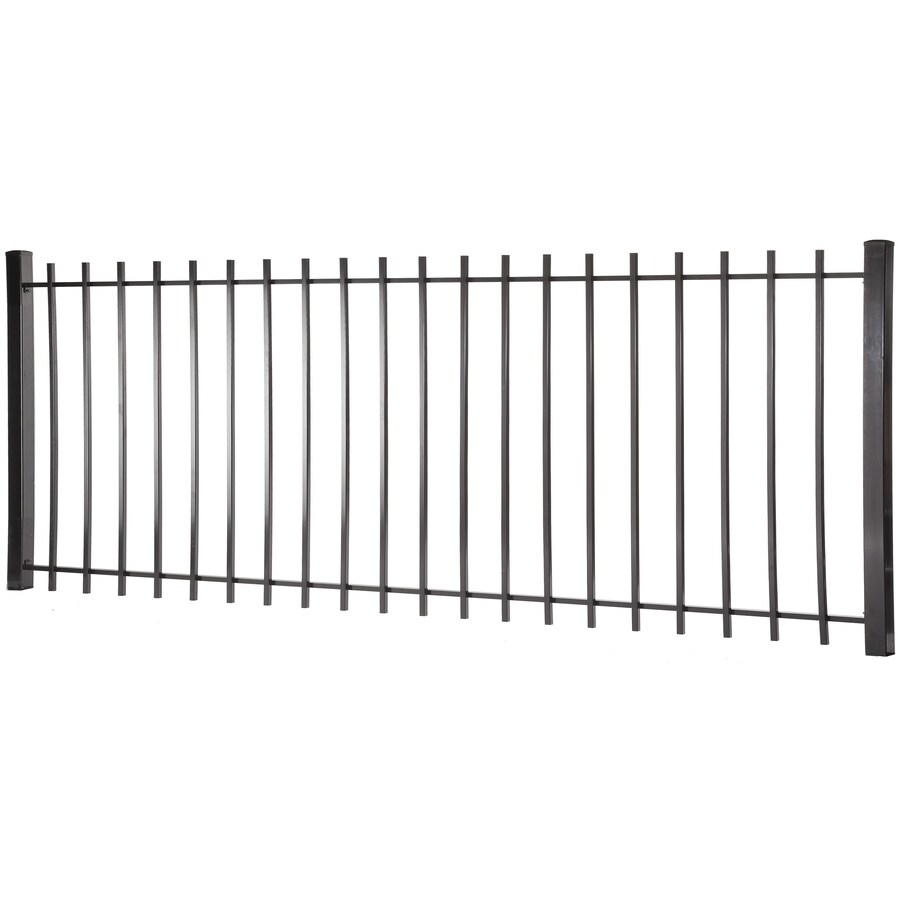 (Actual: 3.95-ft x 7.97-ft) Kent Black Steel Decorative Fence Panel