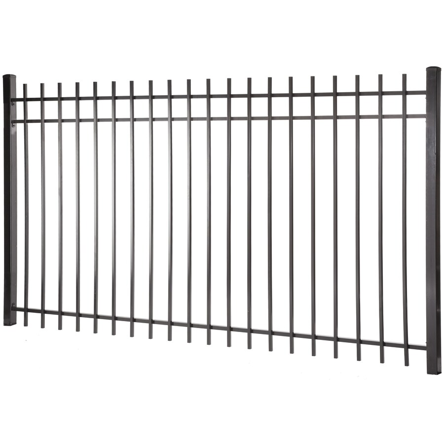 Kent Black Steel Decorative Fence Panel (Common: 5-ft x 8-ft; Actual: 4.96-ft x 7.97-ft)