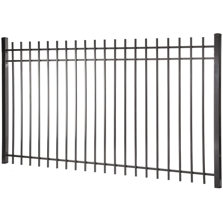 (Common: 5-ft x 8-ft; Actual: 4.96-ft x 7.97-ft) Kent Black Steel Decorative Fence Panel