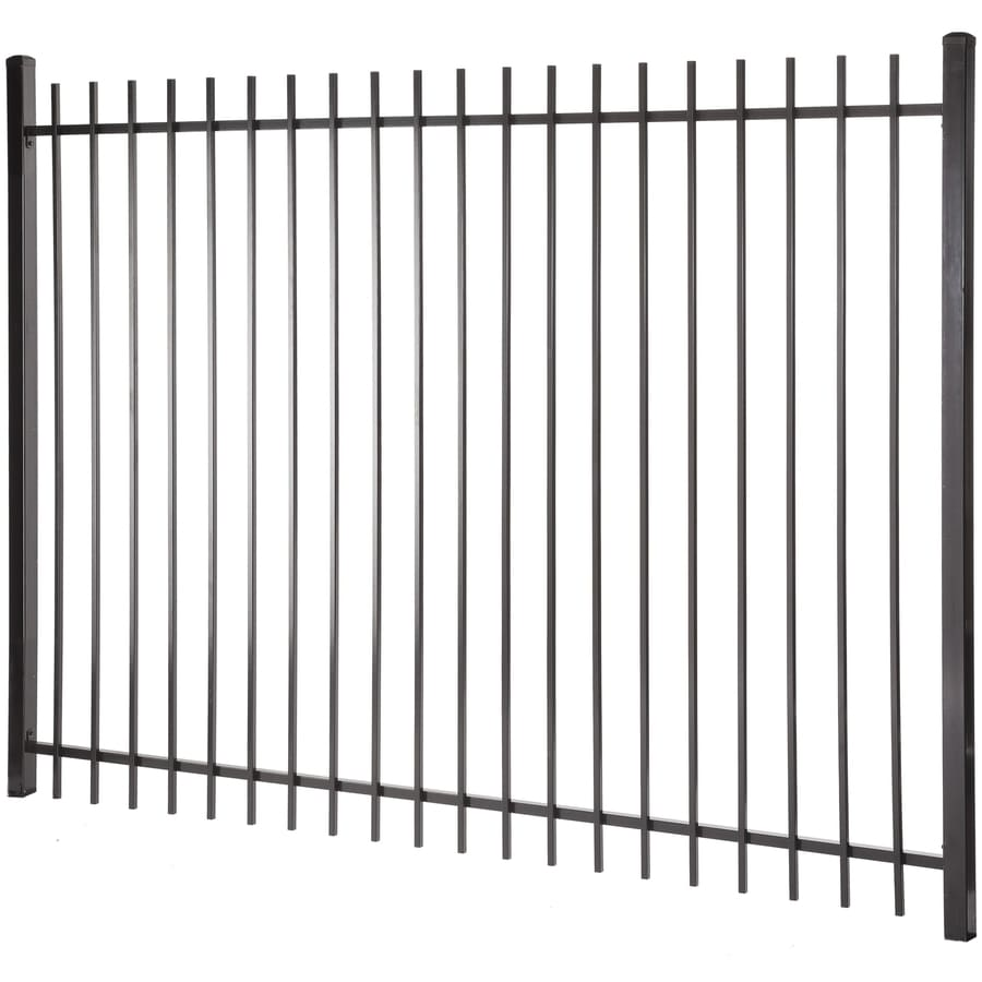Kent Black Steel Decorative Fence Panel (Common: 6-ft x 8-ft; Actual: 5.97-ft x 7.97-ft)