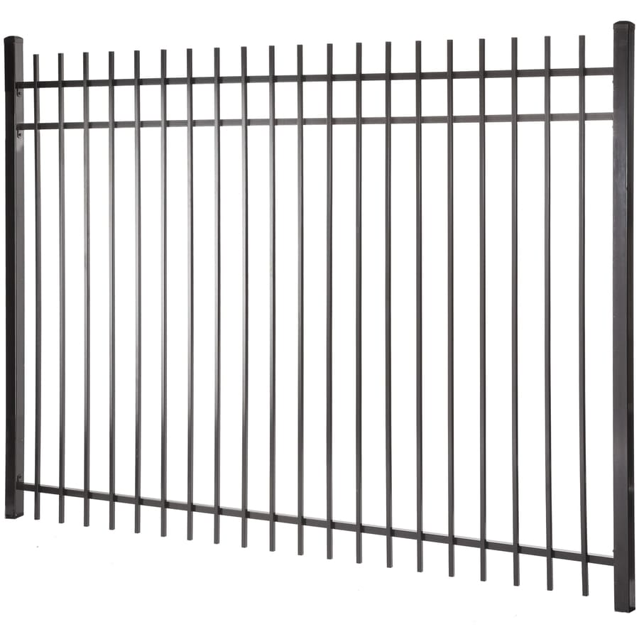 (Actual: 5.97-ft x 7.97-ft) Kent Black Steel Decorative Fence Panel