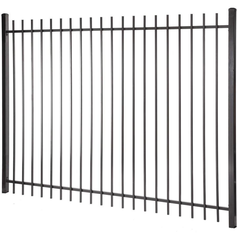 (Common: 6-ft x 8-ft; Actual: 5.97-ft x 7.97-ft) Kent Black Steel Decorative Fence Panel