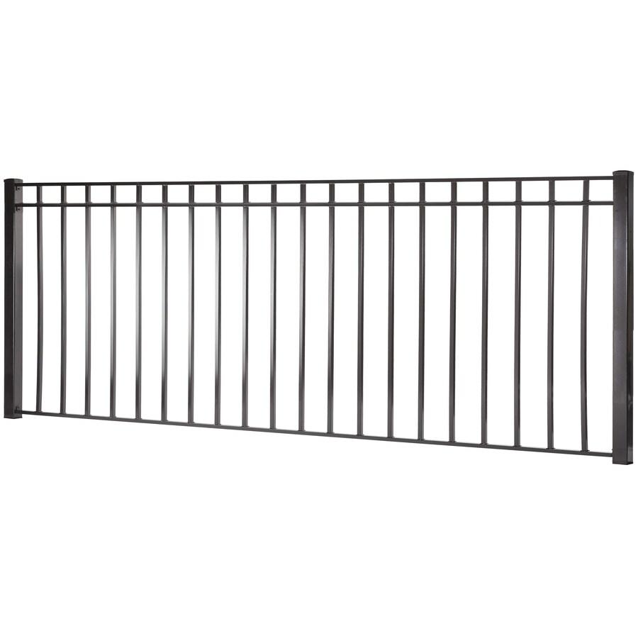 (Common: 4-ft x 8-ft; Actual: 3.91-ft x 7.97-ft) Monroe Black Steel Decorative Fence Panel