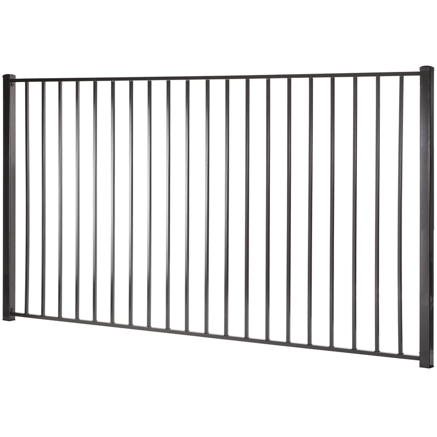 (Common: 5-ft x 8-ft; Actual: 4.96-ft x 7.97-ft) Monroe Black Steel Decorative Fence Panel