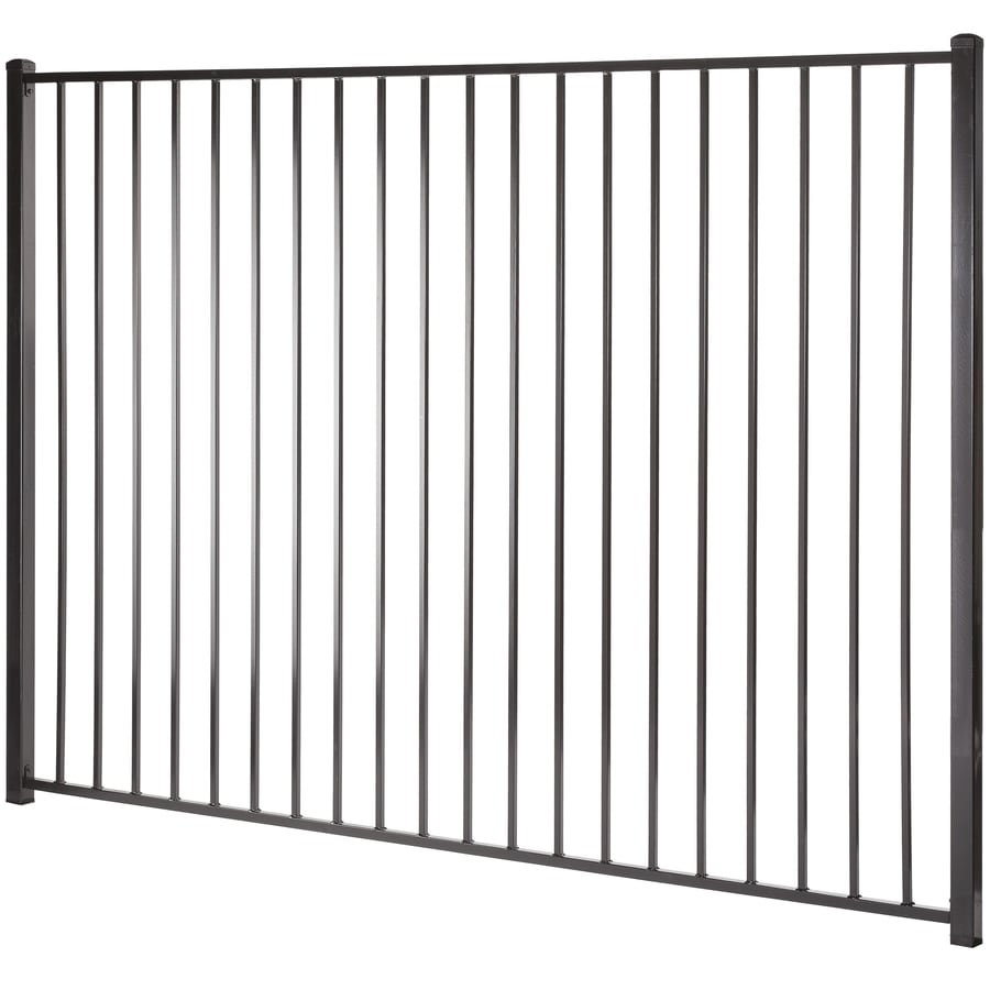 Monroe Black Steel Decorative Fence Panel (Common: 6-ft x 8-ft; Actual: 5.94-ft x 7.97-ft)