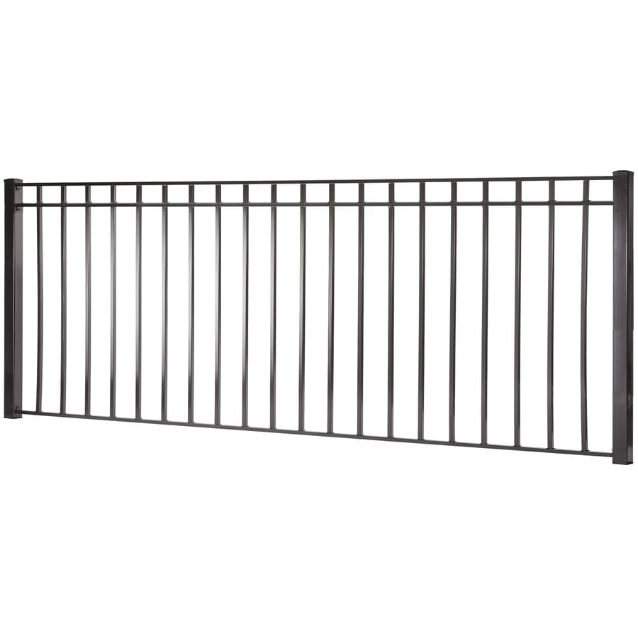 Shop actual x monroe black steel decorative fence panel at - Your guide to metal fence panels for privacy and safety ...