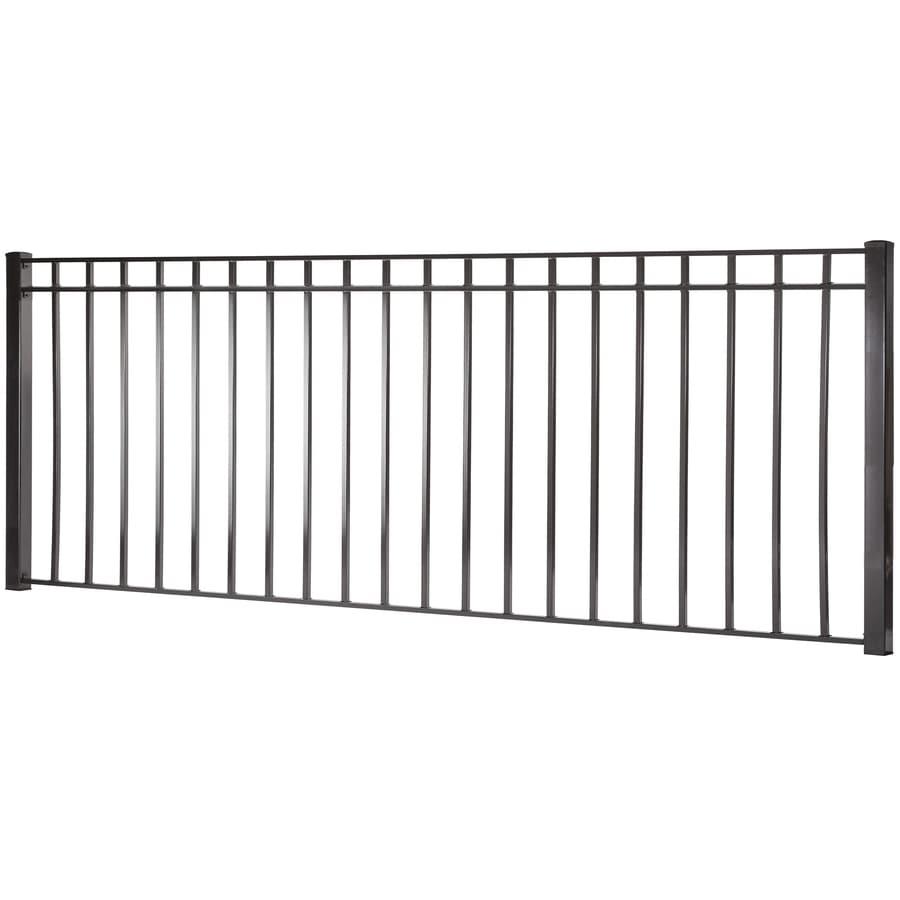 (Actual: 3.91-ft x 7.97-ft) Monroe Black Steel Decorative Fence Panel