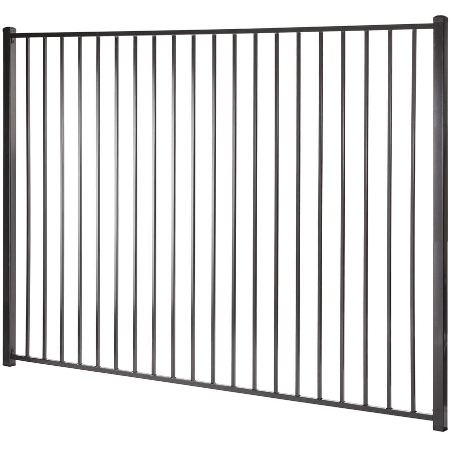 (Common: 6-ft x 8-ft; Actual: 5.94-ft x 7.97-ft) Monroe Black Steel Decorative Fence Panel