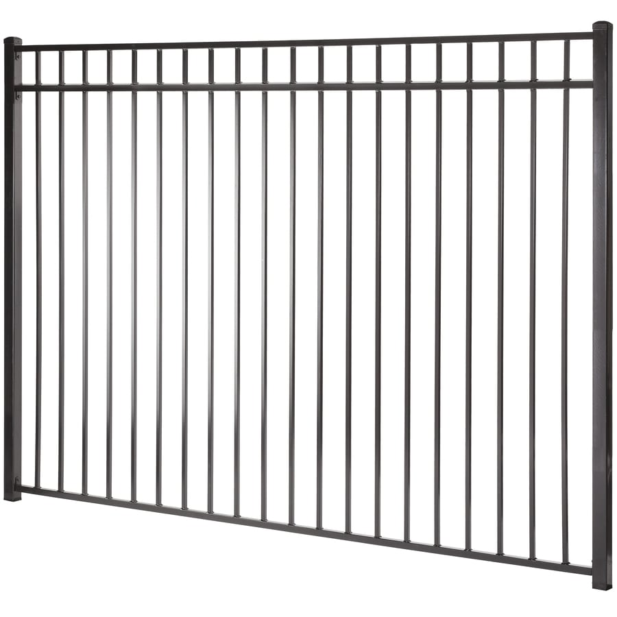 (Actual: 5.94-ft x 7.97-ft) Monroe Black Steel Decorative Fence Panel