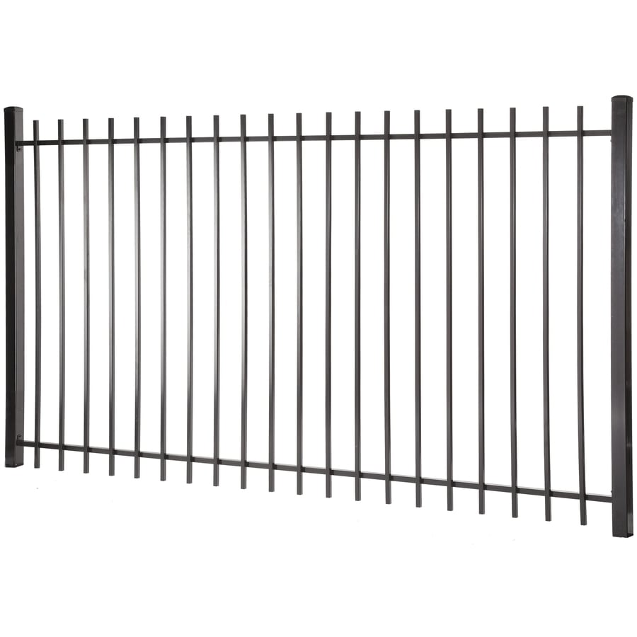 (Actual: 4.96-ft x 7.97-ft) Lafayette Black Steel Decorative Fence Panel