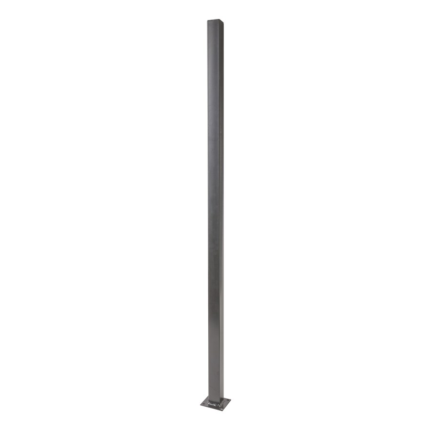 (Common: 2-in x 2-in x 5-ft; Actual: 2-in x 2-in x 5-ft) Black Steel Universal Post