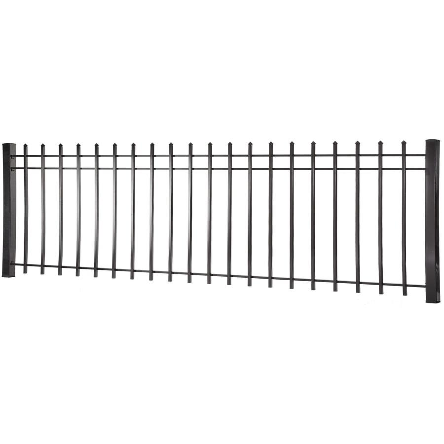 (Actual: 2.94-ft x 7.97-ft) Lafayette Black Steel Decorative Fence Panel