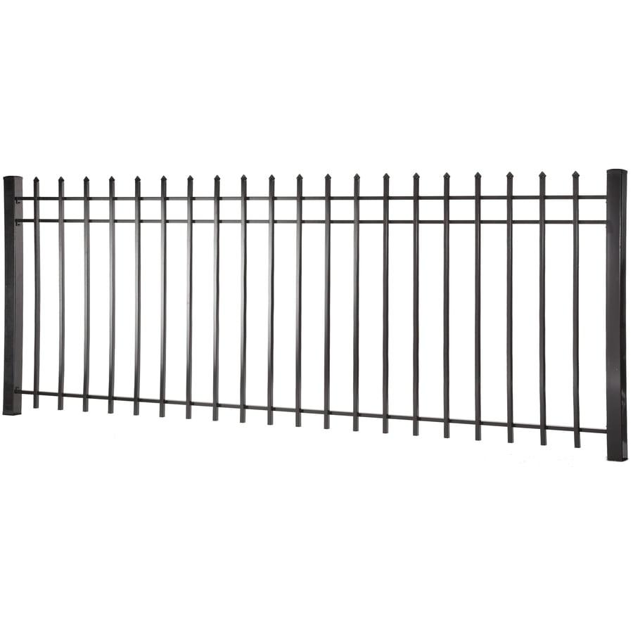 (Actual: 4.96-ft x 7.97-ft) Lafayette Black Steel Decorative Fence Panel