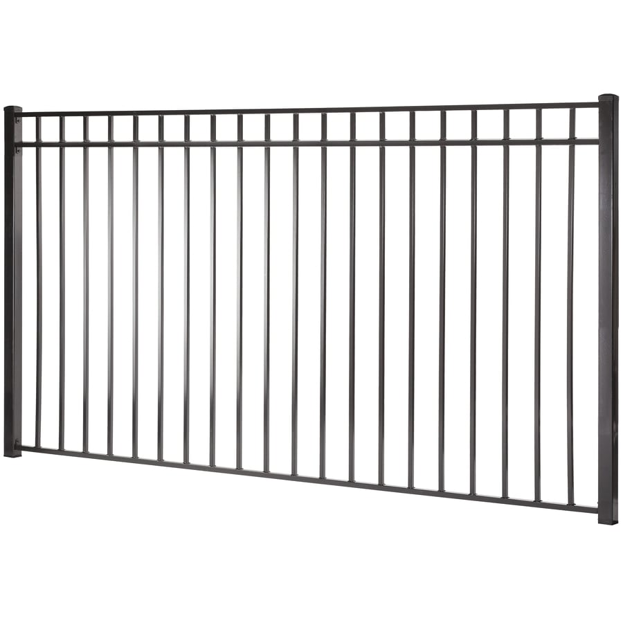 Monroe Black Steel Decorative Fence Panel (Common: 5-ft x 8-ft; Actual: 4.96-ft x 7.97-ft)