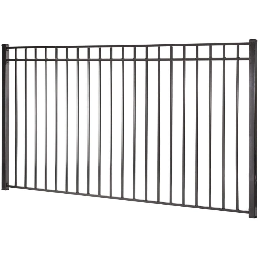 (Common: 5-ft x 8-ft; Actual: 4.96-ft x 7.97-ft) Monroe Black Steel Decorative Fence Panel