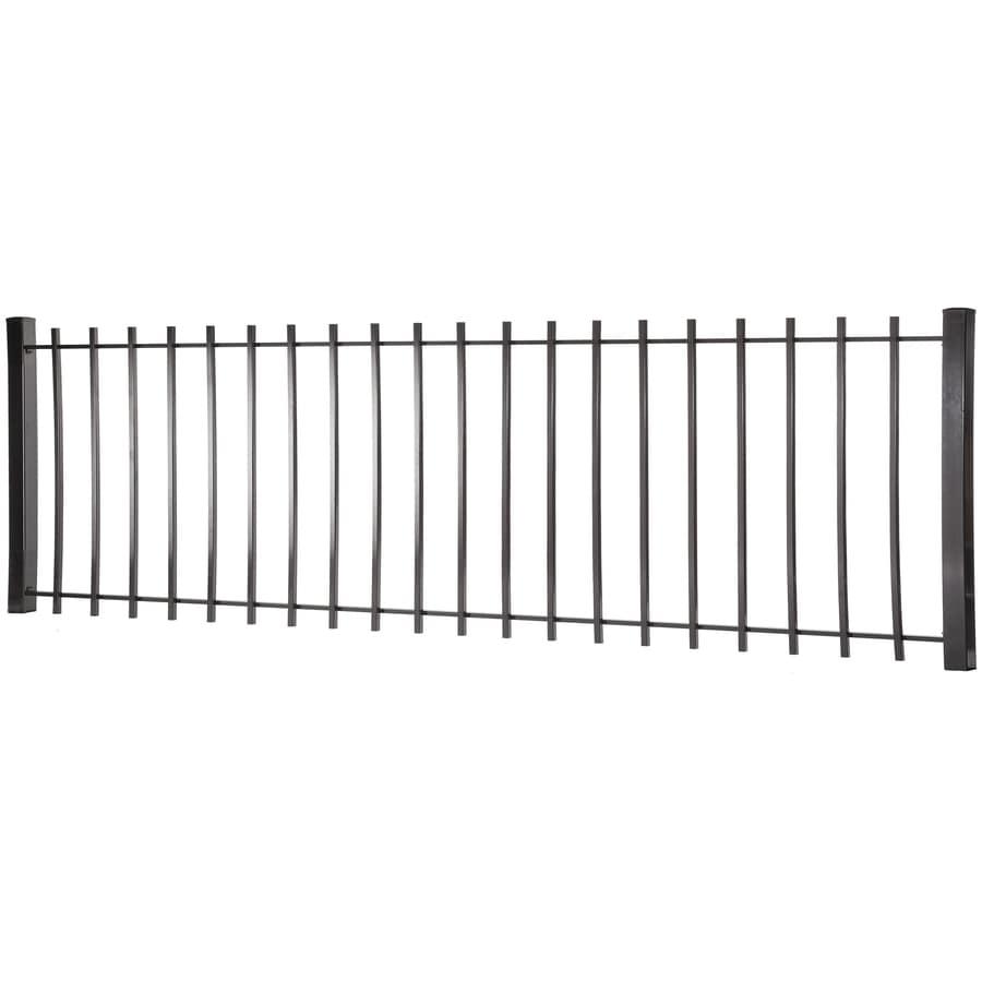 Kent Black Steel Decorative Fence Panel (Common: 3-ft x 8-ft; Actual: 2.94-ft x 7.97-ft)