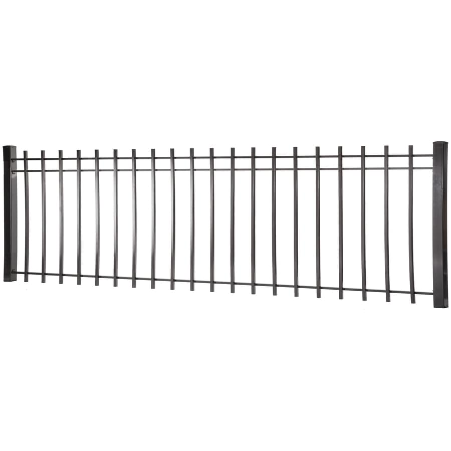 (Actual: 2.94-ft x 7.97-ft) Kent Black Steel Decorative Fence Panel