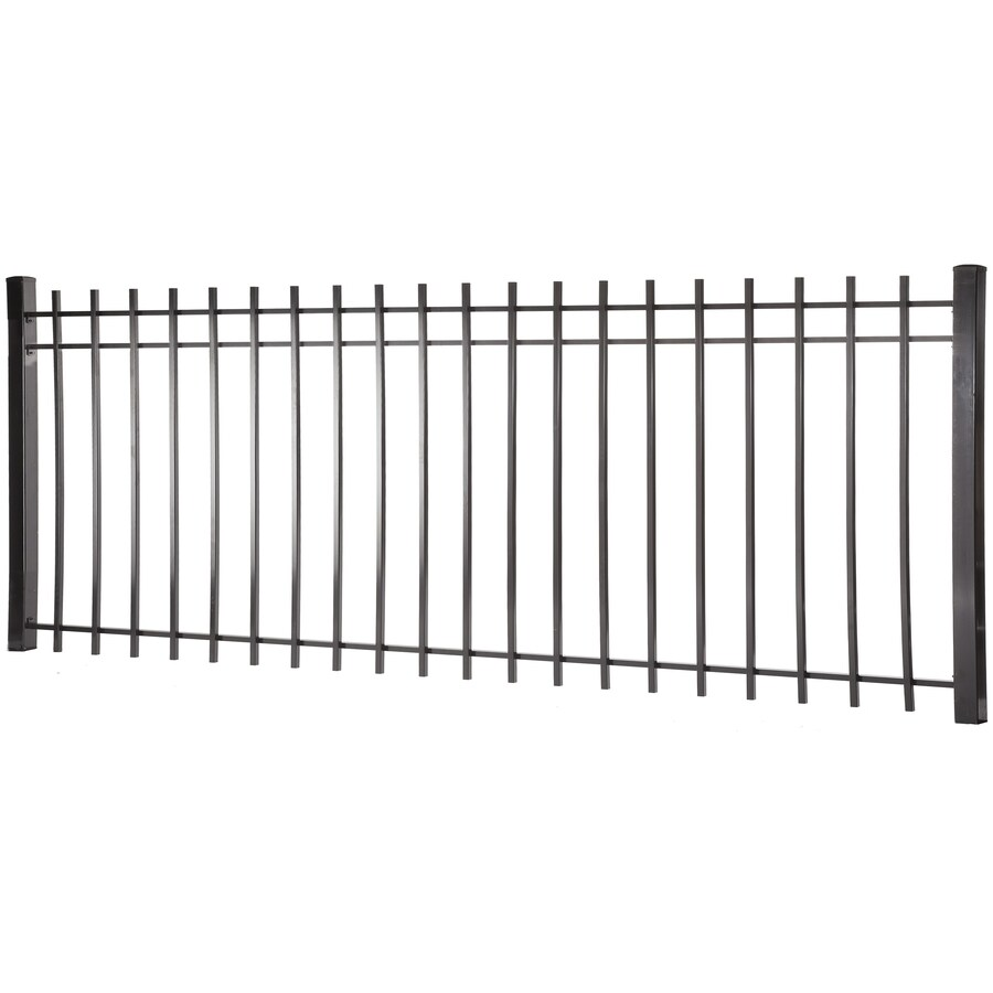(Common: 4-ft x 8-ft; Actual: 3.95-ft x 7.97-ft) Kent Black Steel Decorative Fence Panel