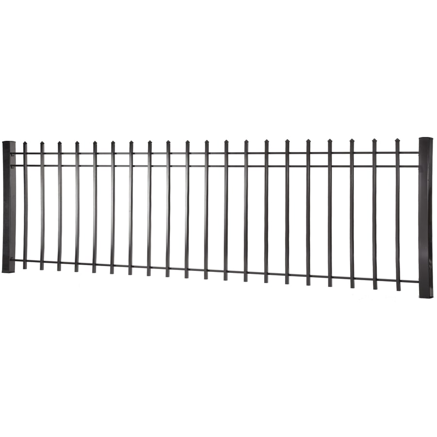 (Actual: 2.94-ft x 7.97-ft) Lafayette Black Steel Decorative Fence Panel