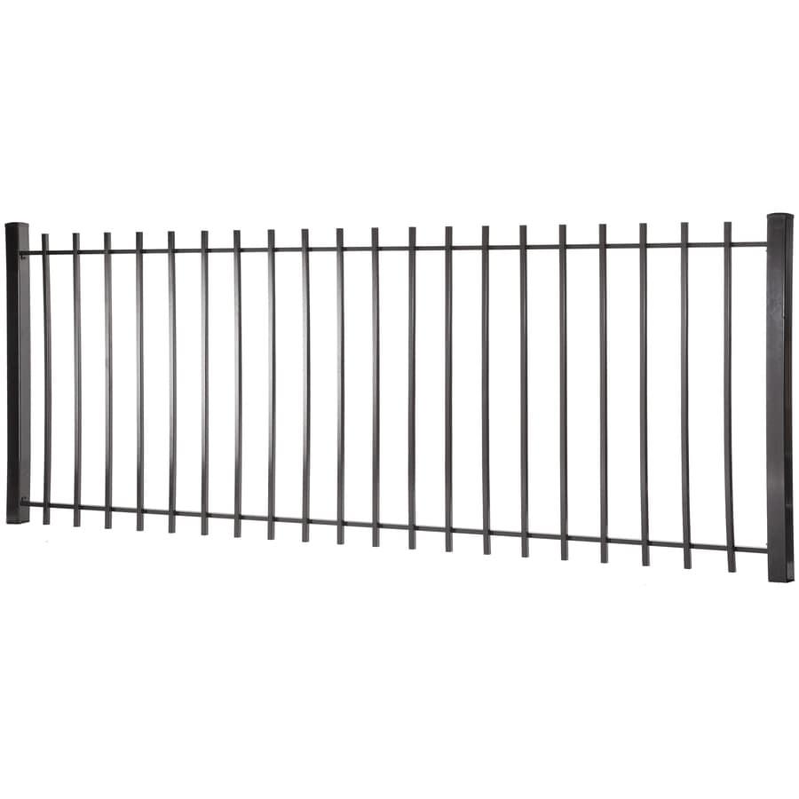 Kent Black Steel Decorative Fence Panel (Common: 4-ft x 8-ft; Actual: 3.95-ft x 7.97-ft)