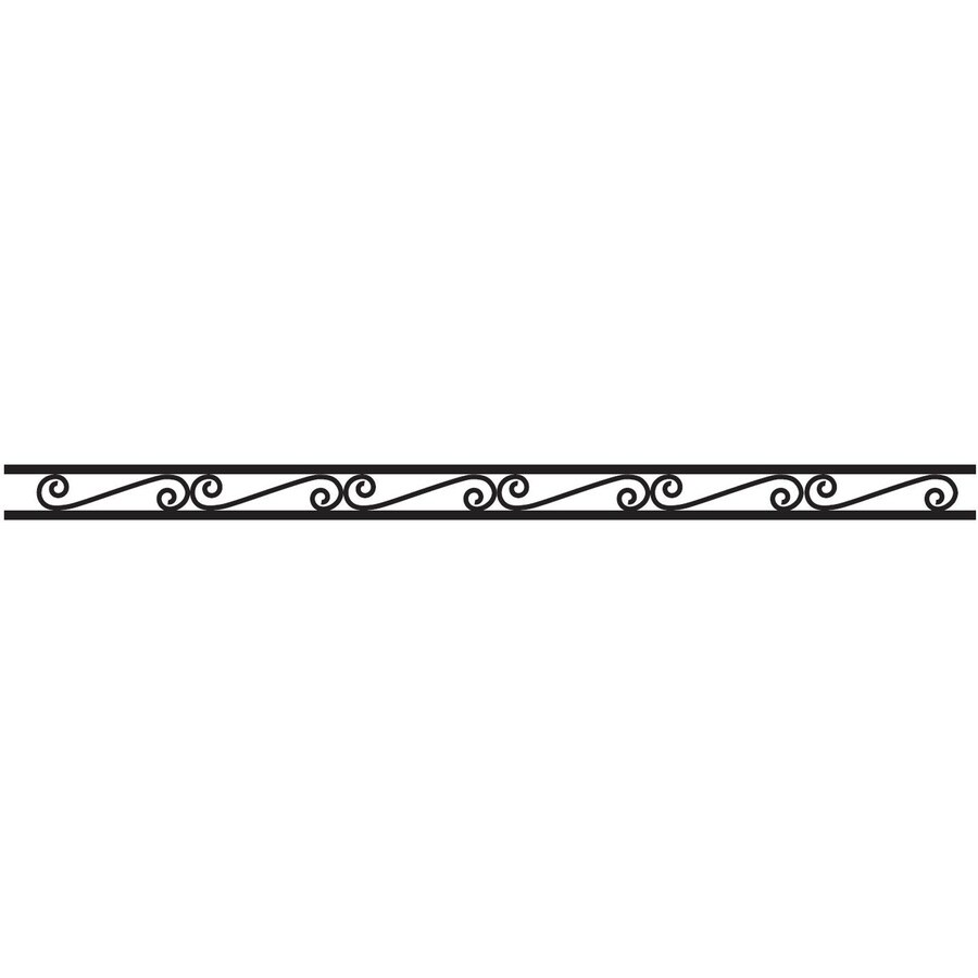 (Actual: 0.5-ft x 7.83-ft) Freedom Fence Black Steel Decorative Fence Panel