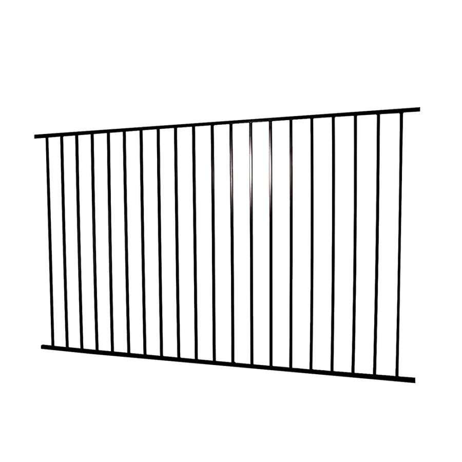 Merchants Metals (Common: 4-ft x 8-ft; Actual: 3.83-ft x 7.83-ft) Freedom Fencing Black Steel Decorative Fence Panel