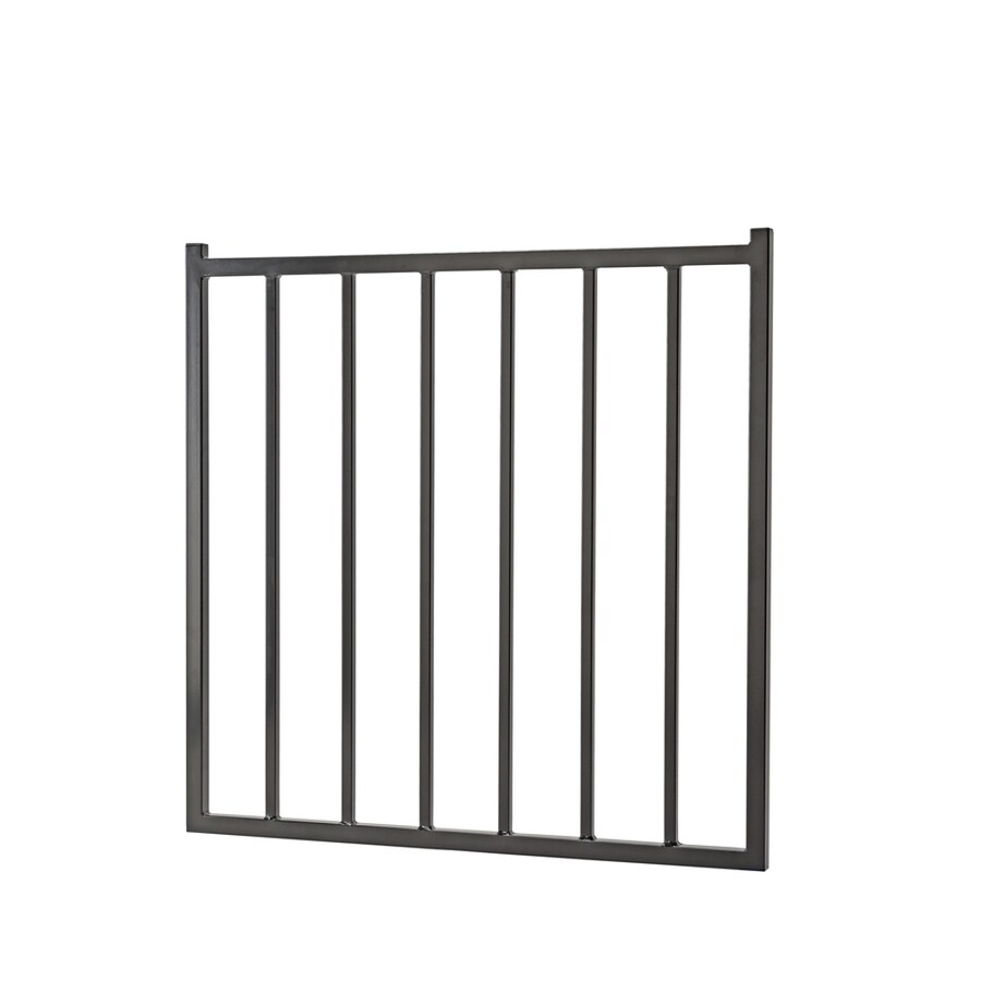 Merchants Metals (Common: 4-ft x 3.5-ft; Actual: 3.83-ft x 3.25-ft) Freedom Fencing Black Steel Decorative Fence Gate