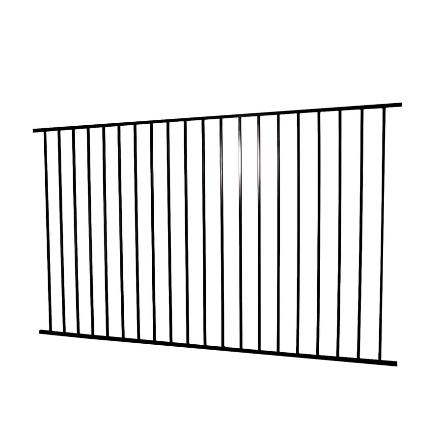(Actual: 4.96-ft x 7.97-ft) Monroe Black Steel Decorative Fence Panel