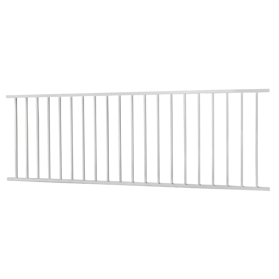 (Actual: 2.88-ft x 7.97-ft) Monroe White Steel Decorative Fence Panel