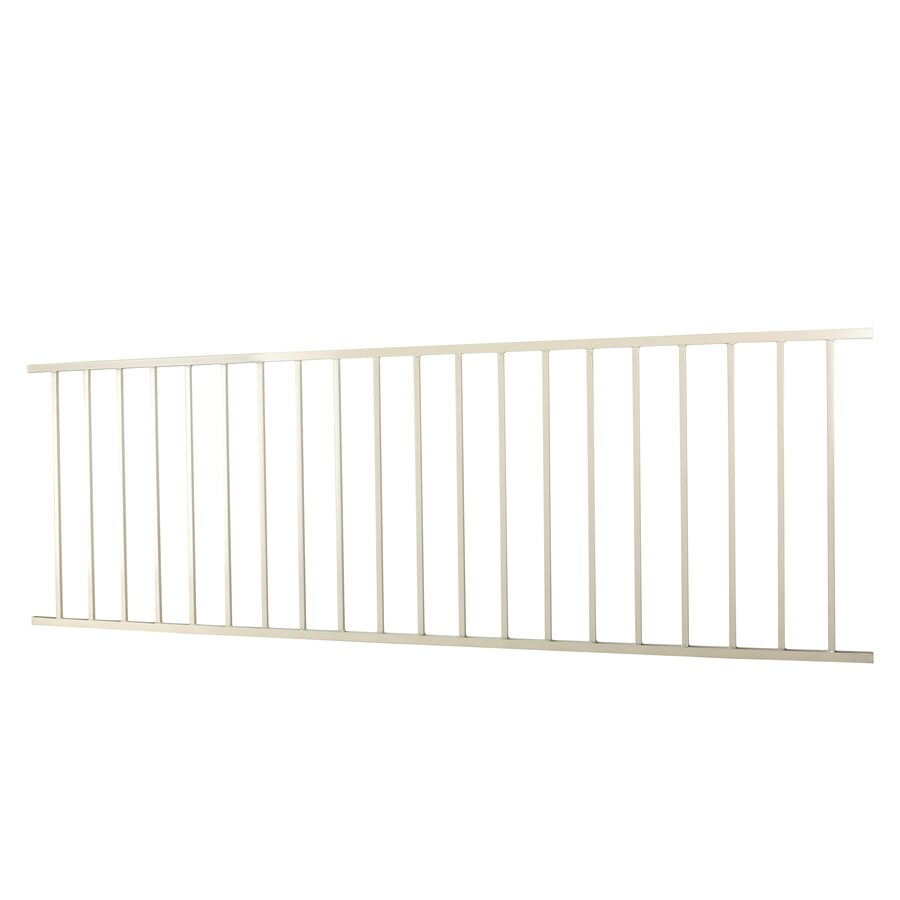 (Actual: 2.88-ft x 7.97-ft) Monroe Navajo white Steel Decorative Fence Panel