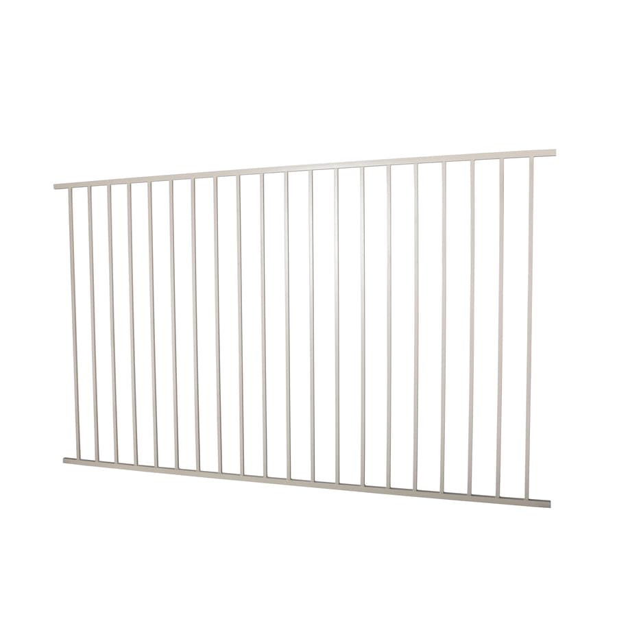 (Actual: 4.96-ft x 7.97-ft) Monroe Navajo white Steel Decorative Fence Panel